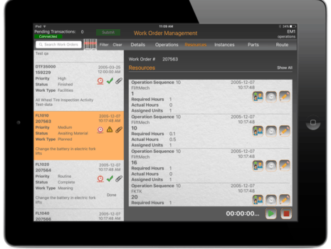 Screen Shot of VIZIYA's WorkAlign Mobile - Oracle Resources